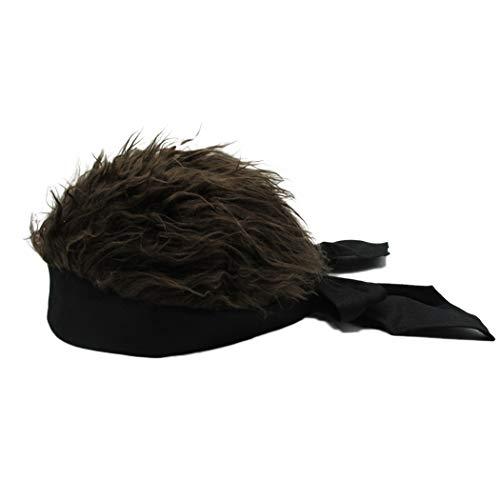 Raylans Novelty Sun Visor Cap Wig Peaked Adjustable Baseball Hat with Spiked Hair -
