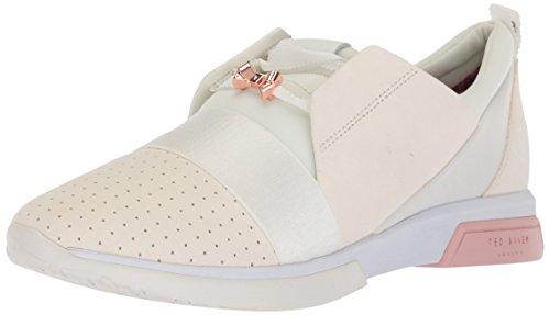 Ted Baker Kvinders Cepa Sneaker Hvid / Pink Guld Ruskind JChqrHLuy