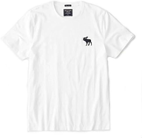 アバクロ 正規 Tシャツ メンズ クルーネック 丸首 ビッグムース ワンポイント アバクロンビー&フィッチ メンズ 半袖 Abercrombie&Fitch [並行輸入品]