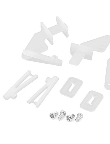 Amazon Com 4 Set Of White Nylon 4holes Control Horns For Rc Model