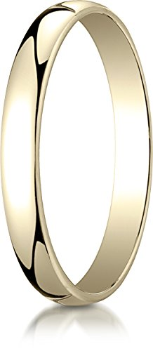 Benchmark 14K Yellow Gold 3mm Low Dome Light Wedding Band Ring , Size 14 ()