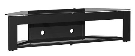 - Tech-Craft MD73 LCD,Plasma Glass TV Stand in Black Finish