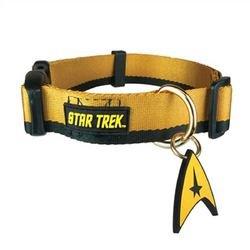 Image of Star Trek Dog Collar Gold Medium - Boldly go where no other dog has gone before