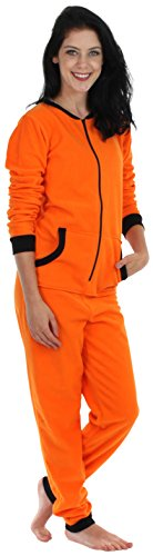 Sleepyheads Women's Sleepwear Fleece Non Footed Color Onesie Pajamas Jumpsuit (SH1018-4030B-SML) -