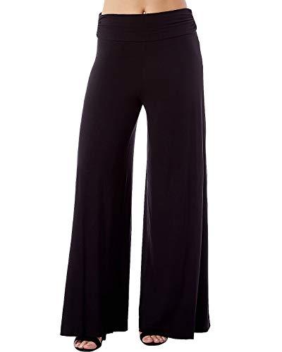 Ruched Leg Pant - Rohb by Joyce Azria Harbor Wide Leg Ruched Waist Palazzo Pant (Black) Size L