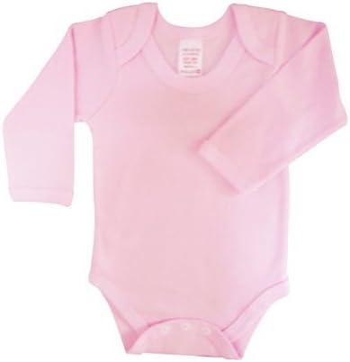 Grey Marl BabywearUK Body Vest Env Neck Long Sleeved British Made 0-3 Months