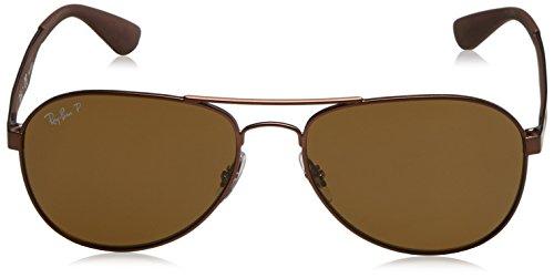Ray-Ban Metal Man Polarized Aviator Sunglasses, Matte Brown, 58 mm
