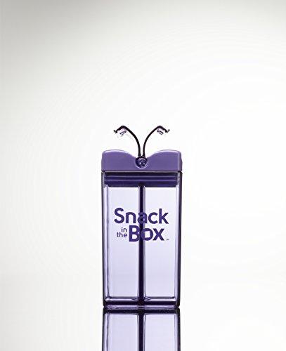 Snack in the Box Eco-Friendly Reusable Snack Box Container by Precidio Design (Purple)