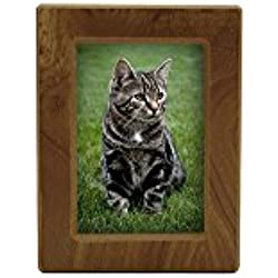 Near & Dear Pet Memorials MDF Photo Urn, 25 Cubic Inch, Natural Finish