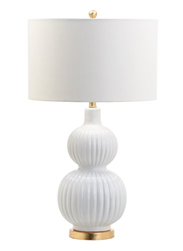 Decorator's Lighting 15484 Ribbed Ceramic Gourd Table Lamp H, 31