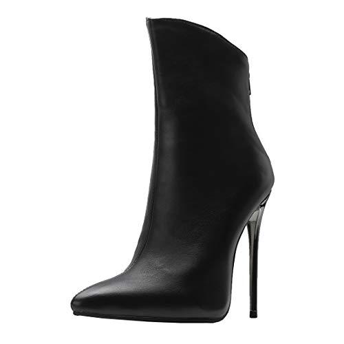 Bottes Winter Hauts Talons YE Bout Bottines Pointu Shoes Femme Boots Courtes Hiver Ankle Sexy Aiguilles Chaude qqf1H