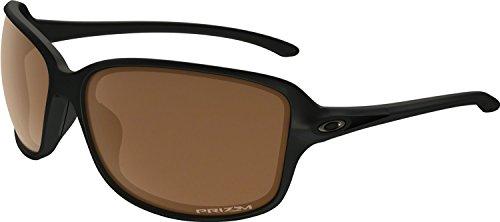 Oakley Sunglasses Women (Oakley Women's Cohort Polarized Iridium Rectangular Sunglasses, Matte Black, 61 mm)