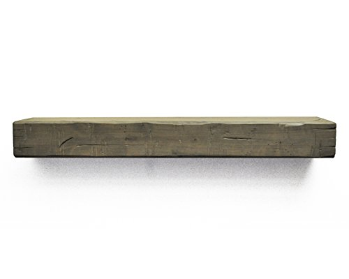Dogberry Collections Rustic Mantel Shelf, Silverwood, -