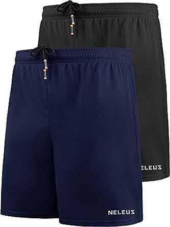 "Neleus Men's 7"" Mesh Running Workout Shorts"