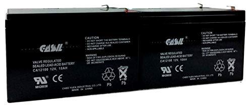 (2 Pack CASIL 12v 10ah 12ah F2 for CLTXPA1212A Interstate MX-12120 ToPin TP12-10 Toyo 6FM12 XP1212 X-treme XB-502 XB502 XP-700 X-360 Pocket Bike Zida 350WET24V 350 Wet 24V Battery )
