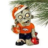 Denver Broncos NFL Zombie Christmas Ornament