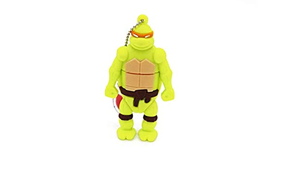 Amazon.com: Orange Ninja Turtle Michelangelo 16GB USB Flash ...