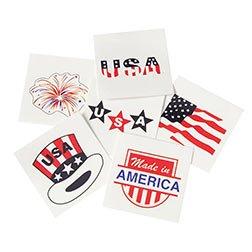 Patriotic Gift Pail - Tattoos Patriotic Asst 1-1/2 Inch