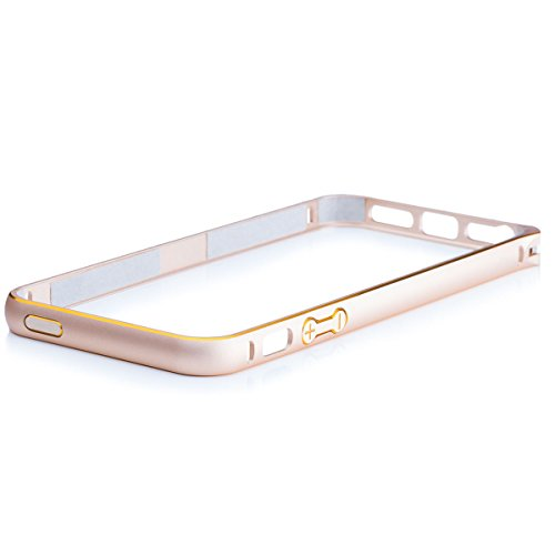 Apple iPhone SE / 5S / 5 | iCues or en aluminium Pare-chocs bicolor | [Film de protection écran compris] CNC aluminium métal cadre métallique Case Case Alubumper Coque Housse Sac Étui Case Cover