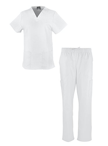 liberty-scrubs-womens-scrub-sets-medical-scrubs-v-neck-nurses-uniform-set