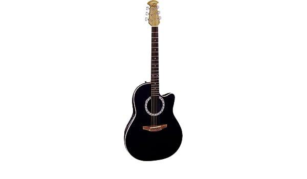 Ovation cc057 Celebrity acústica guitarra eléctrica (negro): Amazon.es: Instrumentos musicales