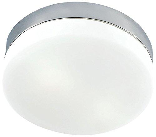 1 Thomas Lighting Flush Mount - Thomas Lighting 1-light LED Flush Mount, Satin Nickel, White Glass