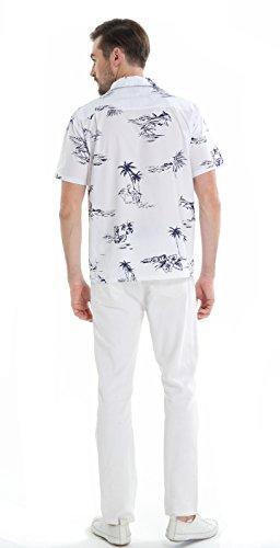 c3bfcf8f Matching Father Son Hawaiian Luau Outfit Men Shirt Boy Shirt Shorts Classic  White Flamingo