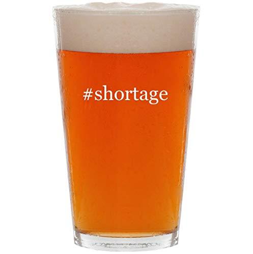 #shortage - 16oz Hashtag Pint Beer Glass