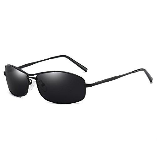 FEIDU Polarized Sport Mens Sunglasses HD Lens Metal Frame Driving Shades FD 9005 (Grey/Gun, - Sunglasses Polarized Hd