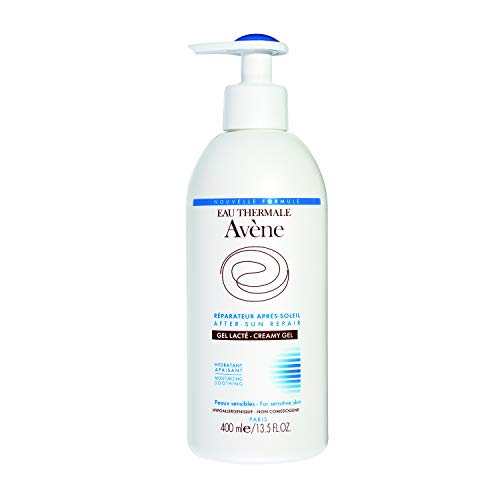 Avene Care Sun - Eau Thermale Avene After Sun Repair Creamy Gel - Cooling Lotion for Sun Exposed Skin, Pump, 13.5 oz.