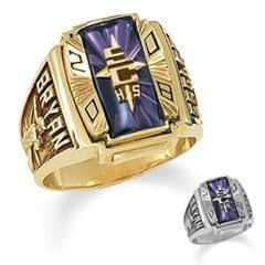 Men S 10k Gold Crestline Legacy High School Class Ring By