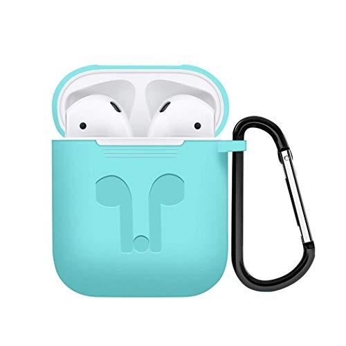FidgetKute Wireless Earpods Bluetooth Headset Earphone Headphone case for i Phone 7 8 Mint ()