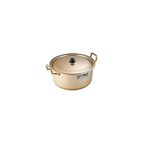 アカオアルミ 実用鍋 45㎝ アルミニウム(しゅう酸アルマイト) 日本 AZT04045   B001T1807E