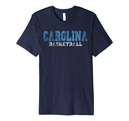 - North Carolina Distressed College Basketball Champion Hoops Premium T-Shirt