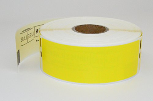 "12 Rolls; 350 Labels per Roll of DYMO-Compatible 30252 YELLOW Address Labels (1-1/8"" x 3-1/2"") -- BPA Free!"