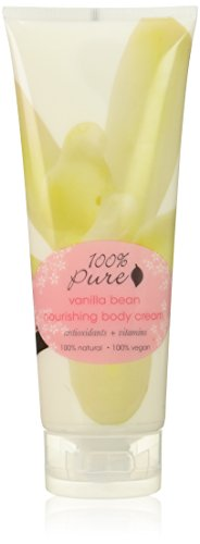 100% Pure: Vanilla Bean Nourishing Body Cream, 8 ounce