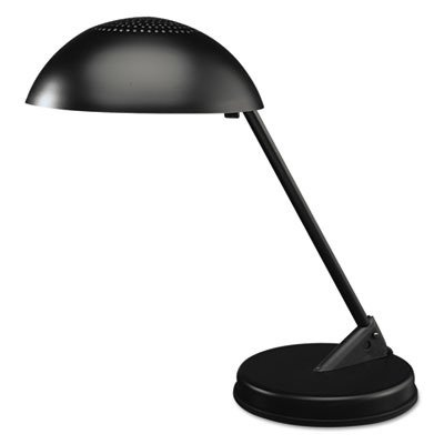 LUXO Corp L563MB Incandescent Desk Lamp with Vented Dome Shade, 18quot; Reach, Matte Black