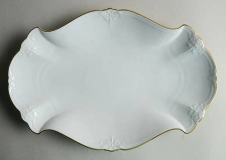 Hutschenreuther Baronesse Garnish Plate, Estelle White with gold trim 34CM ( MADE IN GERMANY-BRAND NEW)