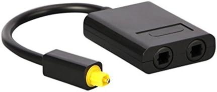 CloverUS Dual Port Toslink Digital Optical Adapter Splitter Fiber Audio Cable