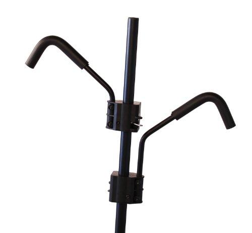 Hollywood Racks - Soporte para enganche de 2 bicicletas reclinado