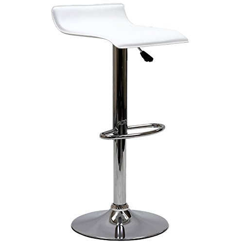Modway Gloria Vintage Modern Faux Leather Upholstered Swivel Bar Stool in White (Stools Bar Cottage White)
