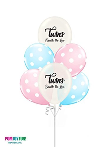 Twins Balloons Kit for a Gender Reveal, Baby Shower or