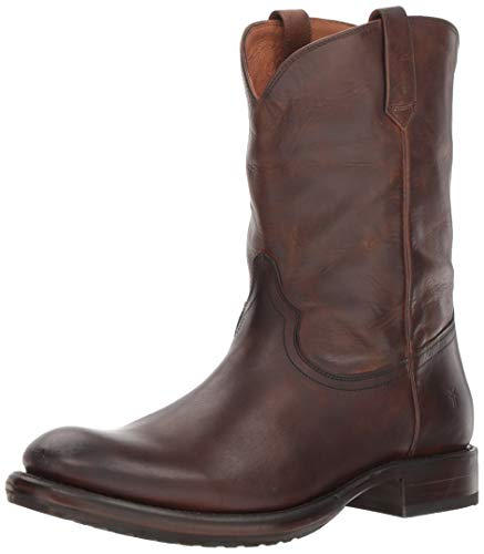 FRYE Men's Duke Roper Fashion Boot, Dark Brown, 10 M ()