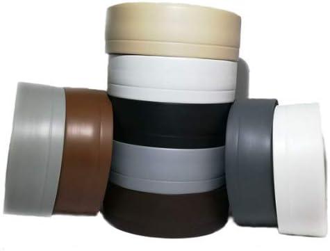 1 Meter Premium Weich Sockelleiste flexible Bodenleiste Schwarz selbstklebend Eckleiste Weichsockelleiste PVC 50x20mm