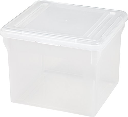 (IRIS Letter Size File Cube Box, 6 Pack, Clear)