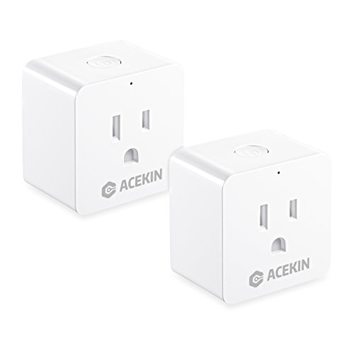 Smart Plug 2 Pack WiFi Smart Outlet Compatible with Amazon Alexa Echo Google Home Remote Control Mini Smart Socket with Timer Function by (AC 110-240V/10A) by ACEKIN