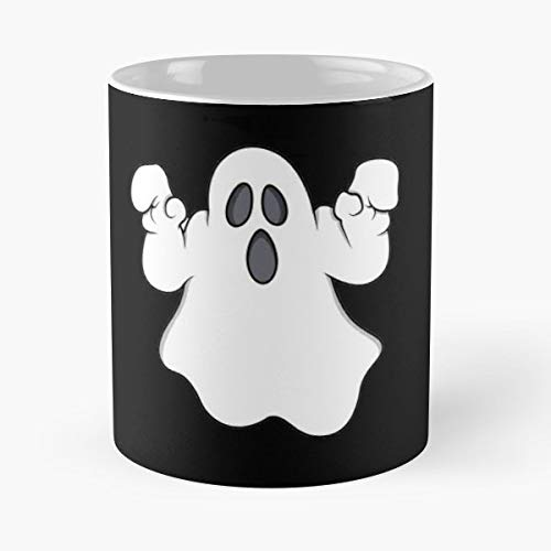 Ghost Design Halloween Quote Saying Cartoon - 11 Oz Coffee Mugs Unique Ceramic Novelty Cup, The Best Gift For Halloween.]()