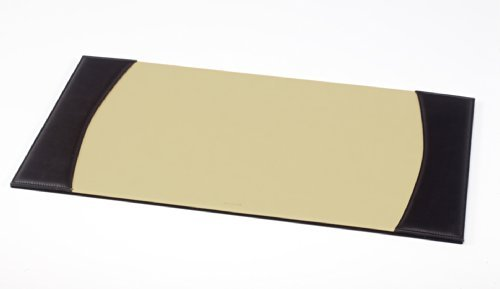 Excutive Leather Desk Pad - 25.2'' x 13.4'' | Desk Office Accessories - Made in Italy (Black)