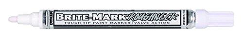 (Brite-Mark Rough Neck Tough Tip Marker, White)