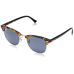 Ray-Ban CLUBMASTER - SPOTTED BLUE HAVANA Frame GREY Lenses 51mm Non-Polarized
